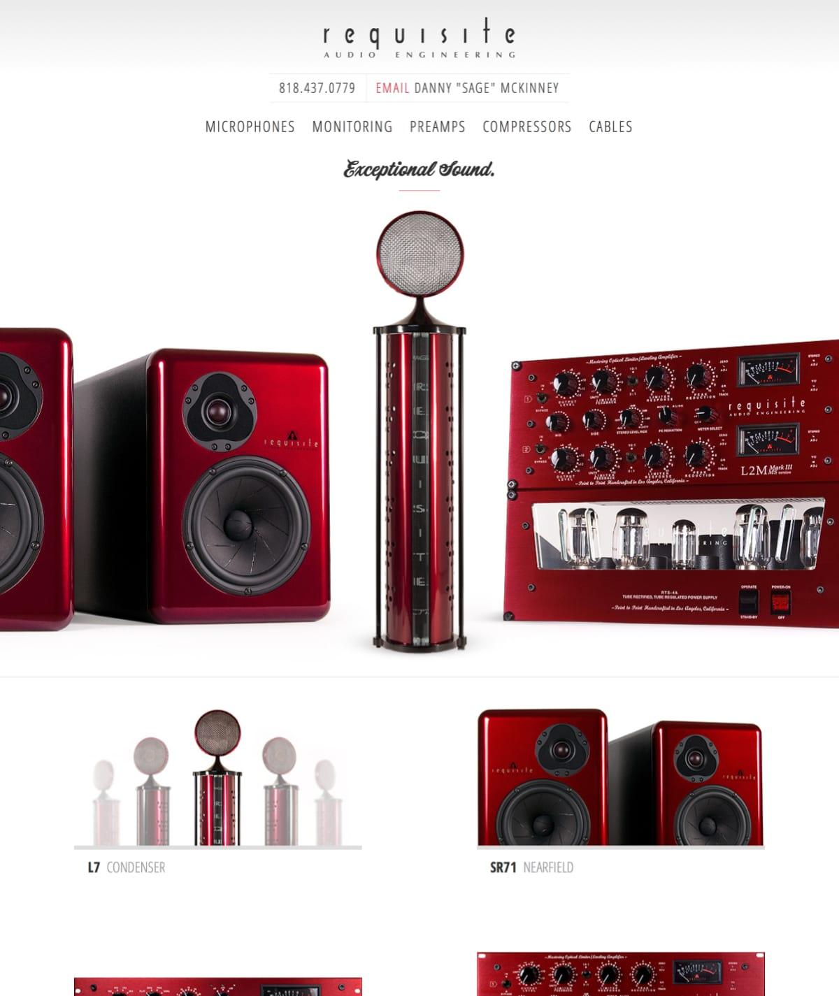 Boise web design - Requisite Audio