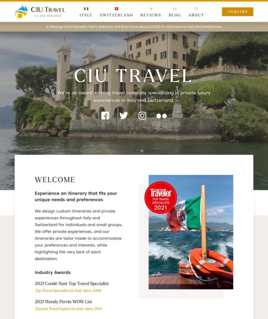 CIU Travel website